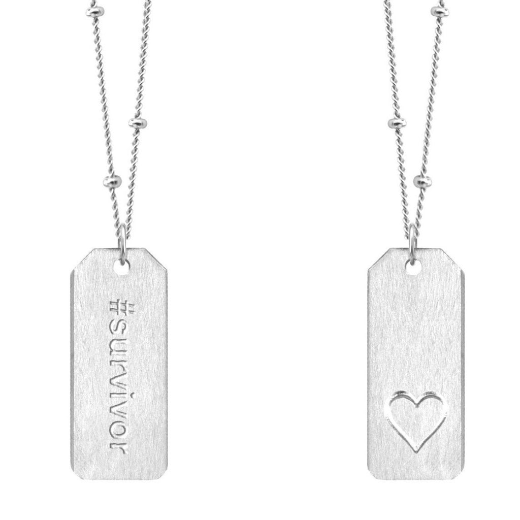 Chelsea Charles #survivor sterling silver Love Tag necklace
