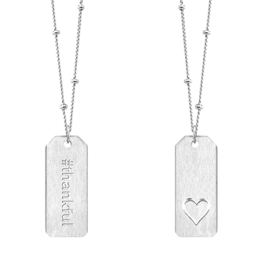 Chelsea Charles #thankful sterling silver Love Tag necklace
