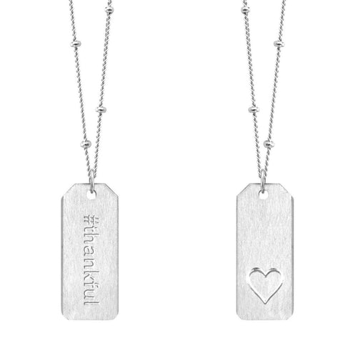Love Tag Necklace - #thankful
