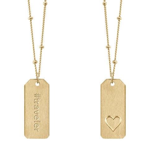 Love Tag Necklace - #traveler