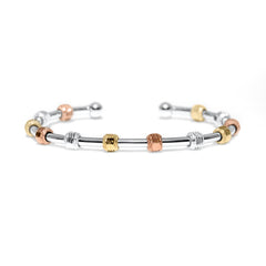 Golf Goddess Stroke Counter Tricolor Silver Bracelet by Chelsea Charles