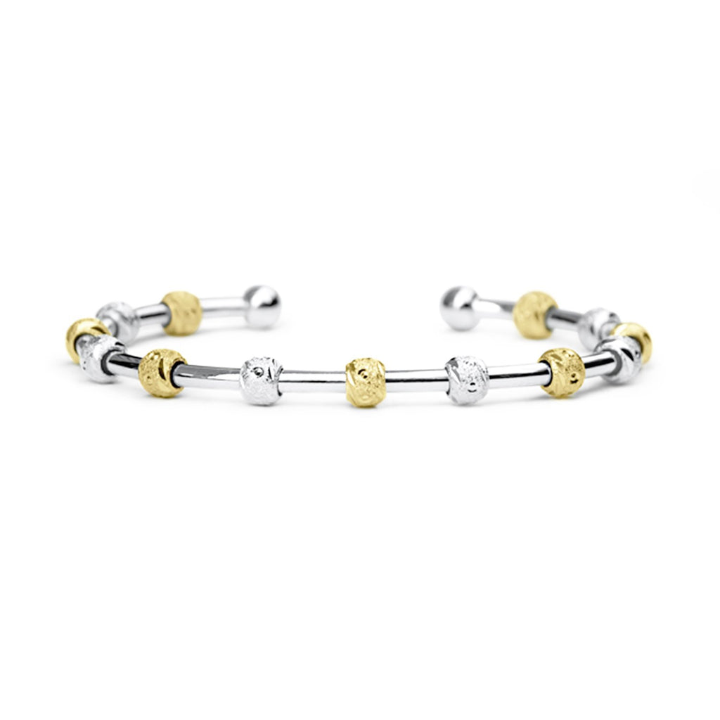 Golf Goddess Two-Tone Silver and Gold Stroke Counter Bracelet by Chelsea Charles