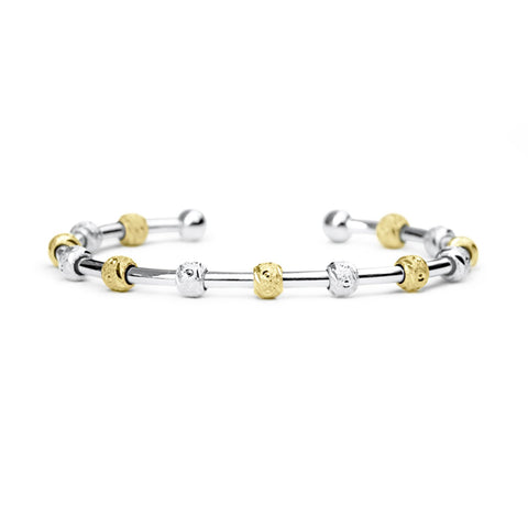 Golf Goddess Silver and Gold Stroke Counter Bracelet