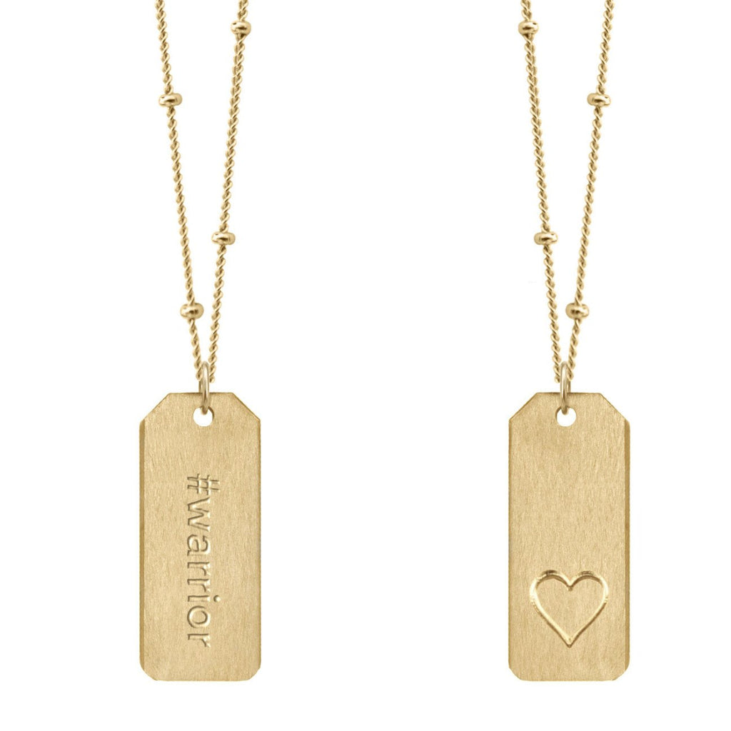 Chelsea Charles #warrior gold Love Tag necklace