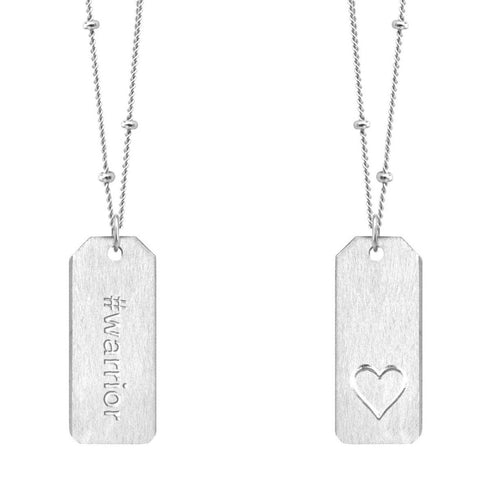 Chelsea Charles #warrior sterling silver Love Tag necklace