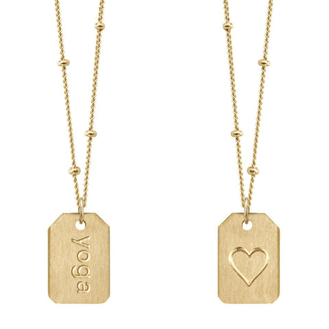 Love Tag Necklace - yoga
