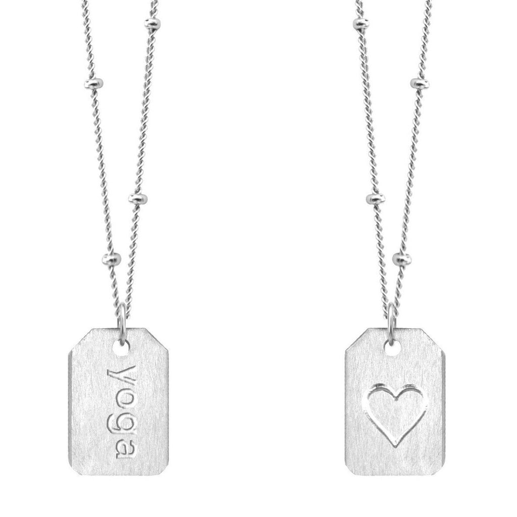 Chelsea Charles Yoga Sterling Silver Love Tag Necklace
