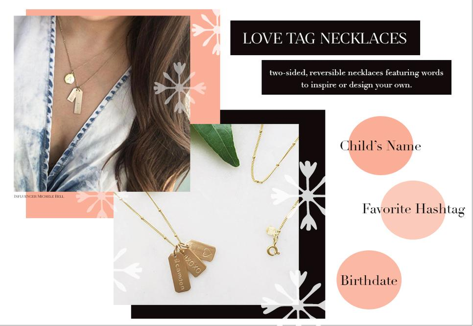 Chelsea Charles Love Tag Necklaces