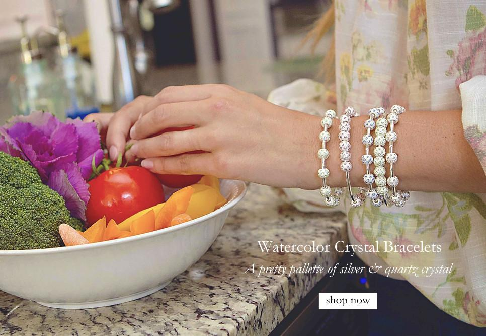 Watercolor Crystal Bracelets