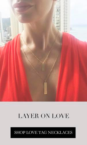 Shop Love Tag Necklaces