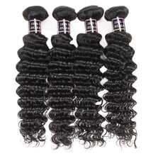 "Load image into Gallery viewer, Allove Brazilian Deep Wave Virgin Hair 4 Bundles Human Hair Bundles Extensions, 28""28""28""28"" - PrettyLadies"