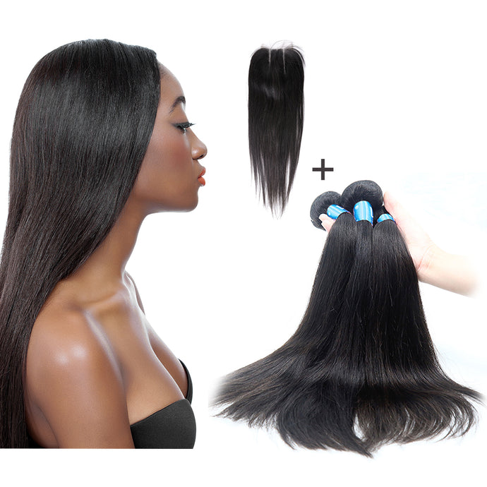 Virgin Human Hair Straight Combo Pack - 12