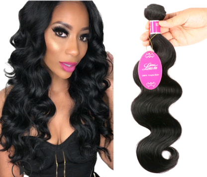 Natural color wig, real wig, hair extension, Brazilian body wave hair wig - PrettyLadies