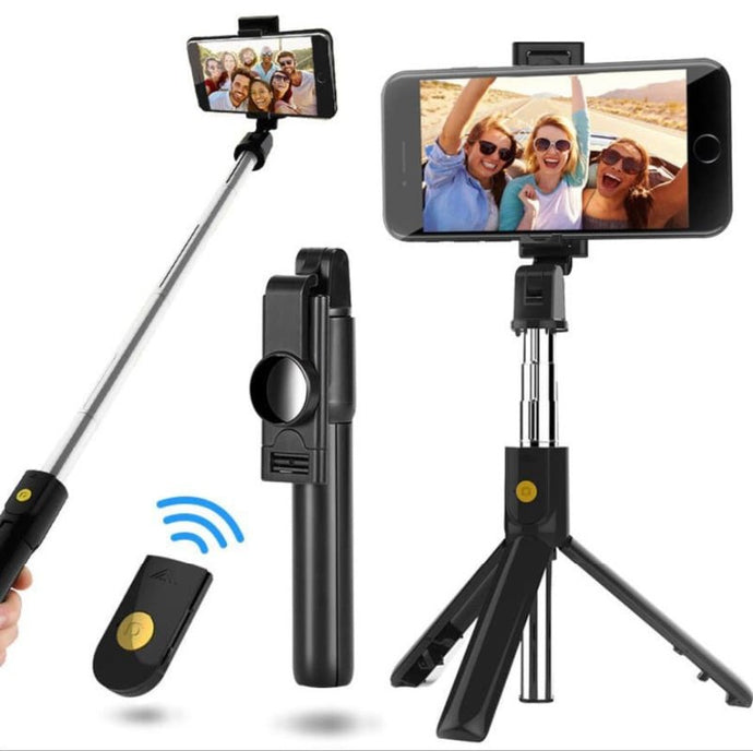 Bluetooth Selfie Stick Remote Control Tripod Phone Multifunction