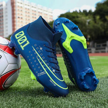 Load image into Gallery viewer, Variety Of Printed Spike Football Boots, Rubber Sole, Fashion Front Lace-up Sneakers, Mid-top Lightweight Football Boots-