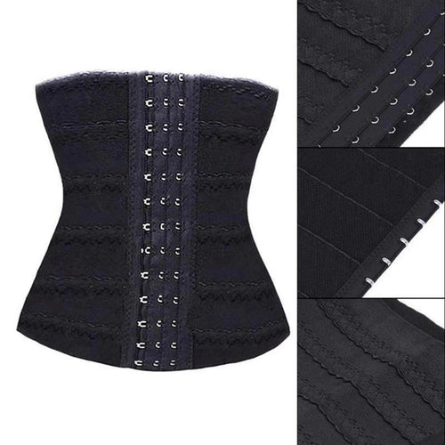women' waist trainer shapewear elastic three rows of buttons bodyshaping puerperal girdle corset