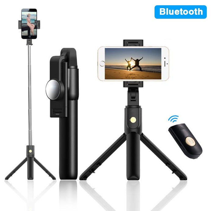 multifunctional bluetooth self-rod with tripod monopod selfie stick for ios android