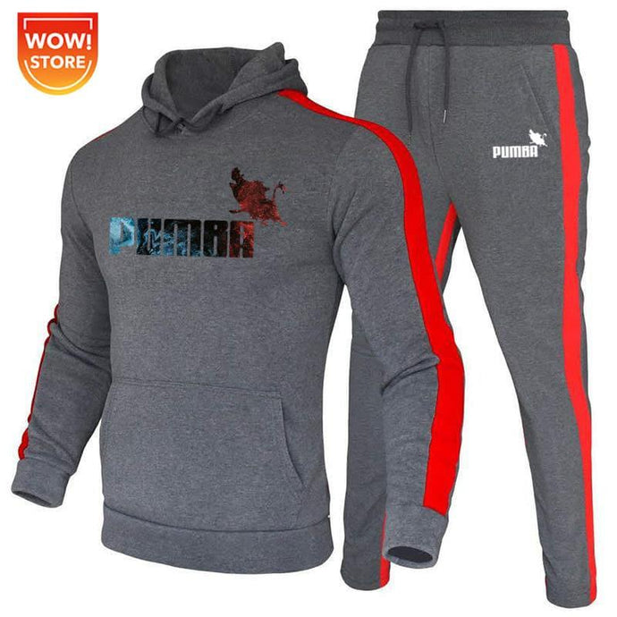 2 pieces sets tracksuits for man hooded sweatshirt+pants pullover hoodie sportwear suit homme casual men halloween clothes