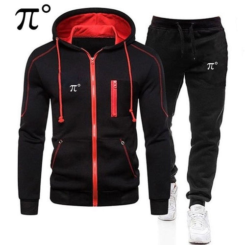 new men hoodies tracksuit sweatshirt suit fleece hoodie+sweat pants jogging homme pullover sporting suit for male