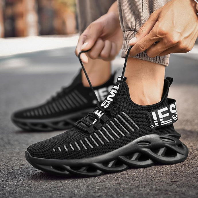 mens shoe lightweight blade running shoes shockproof lack up breathable male sneakers height increase walking gym shoes for man