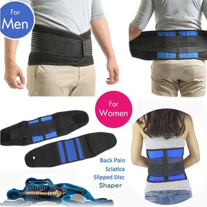 1Pcs Adjustable Neoprene Double Pull Lumbar Support Lower Back Belt Brace Pain Relief Band Waist Belt S-6XL Plus Zize - PrettyLadies