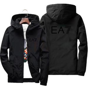 2020 spring and autumn new fashion jacket men's street windbreaker polyester hoodie zipper thin jacket casual men jackets 7XL - PrettyLadies