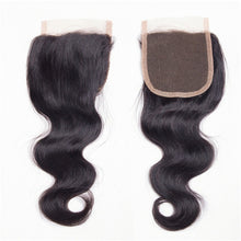 "Load image into Gallery viewer, Beroyal Brazilian Virgin Human Hair Body Wave with Closure, 14""16""18"" with 14"" - PrettyLadies"