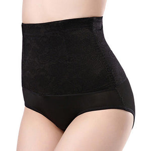 Seamless High Waist Hip Lifting Abdomen Shaping Breathable Shapewear - 3XL Black - PrettyLadies