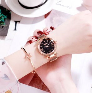 Star lazy magnet buckle quartz watch - PrettyLadies