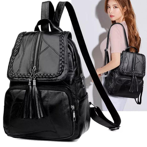 Version Joker Shoulder Bag Travel Backpack Student Soft Leather Small Trend