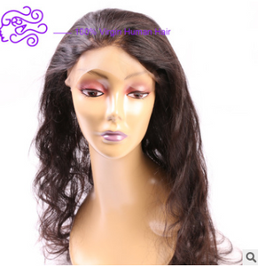 Natural color real hair 360 22*4*2 full lace accessories wig - PrettyLadies