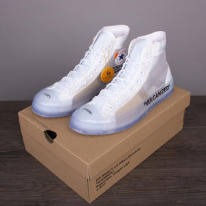 Convers  ice blue high-top shoes - PrettyLadies
