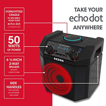 Load image into Gallery viewer, ION 50W Outdoor Echo Dot Speaker Dock/Portable Alexa Accessory With Bluetooth Connectivity and 50 Hour Rechargeable Battery-Tailgater Smart - PrettyLadies