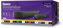 Load image into Gallery viewer, Roku Streambar | 4K/HD/HDR Streaming Media Player & Premium Audio, All In One, Includes Roku Voice Remote, Released 2020 - PrettyLadies