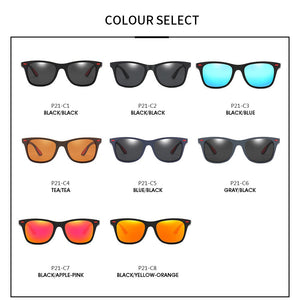 DJXFZLO Brand Design Polarized Sunglasses Men Women Driver Shades Male Vintage Sun Glasses  Men Spuare Mirror Summer UV400OculoS - PrettyLadies