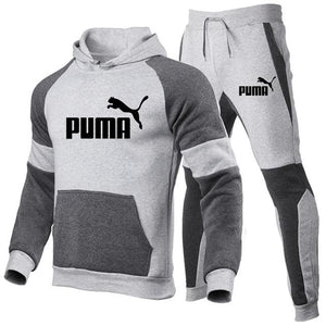 Fashion brand  Men's Set Fleece Hoodie Pant Thick Warm Tracksuit Sportswear Hooded Track Suits Male Sweatsuit Tracksuit - PrettyLadies