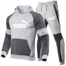 Load image into Gallery viewer, Fashion brand  Men's Set Fleece Hoodie Pant Thick Warm Tracksuit Sportswear Hooded Track Suits Male Sweatsuit Tracksuit - PrettyLadies