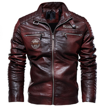 Load image into Gallery viewer, Winter plus size outdoor leather jacket - PrettyLadies