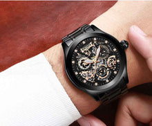 Load image into Gallery viewer, KINYUED J062 oem waterproof custom logo leather fashion tourbillon skeleton wrist watch luxury mechanical watch men wristwatches - PrettyLadies