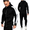 2020 fall winter Customize logo 5colors men clothing geometric hoodie sweatshirt jogger two piece outfit 2 piece set tracksuit - PrettyLadies