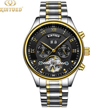 Load image into Gallery viewer, KINYUED Customized Luxury Luminous Tourbillon Automatic Mechanical Watch Men's wrist watches - PrettyLadies