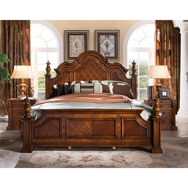 American high-grade birch wood bedroom furniture set king size bed GH18 - PrettyLadies