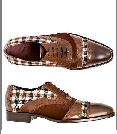 Men's single shoes: new low heeled men's shoes in spring 2020, plaid set foot business single shoes - PrettyLadies