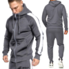 Load image into Gallery viewer, 2020 fall winter Customize logo 5colors men clothing geometric hoodie sweatshirt jogger two piece outfit 2 piece set tracksuit - PrettyLadies