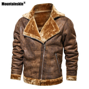 Winter plus size outdoor leather jacket - PrettyLadies