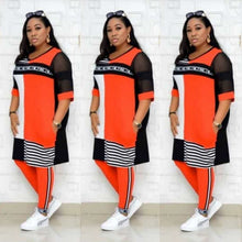 Load image into Gallery viewer, New African Clothes For Women Two Piece Sets Long Tops Skinny Pants Matching Set Mesh Patchwork Tracksuit Set Plus Size 4XL 3XL - PrettyLadies