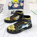 Unisex Fashion Shoes Cartoon Uzumaki Naruto High Top Sneaker for Men Canvas Shoes Comfortable Cartoon Design Couple Casual Shoes - PrettyLadies