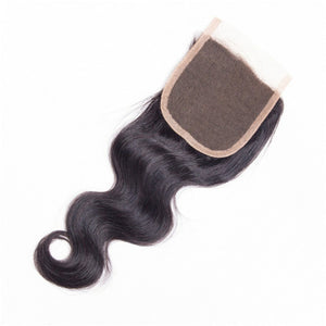 "Beroyal Brazilian Virgin Human Hair Body Wave with Closure, 14""16""18"" with 14"" - PrettyLadies"