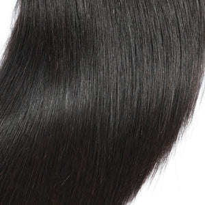 "Beroyal Straight Hair 3 Bundles with Closure Free Part Brazilian Virgin Human Hair, 16""18""20"" with 12"" - PrettyLadies"