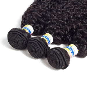 "YYONG Hair Company Brazilian Kinky Curly Hair Weave 3 Bundles Unprocessed Virgin Hair, 6""6""6"" - PrettyLadies"